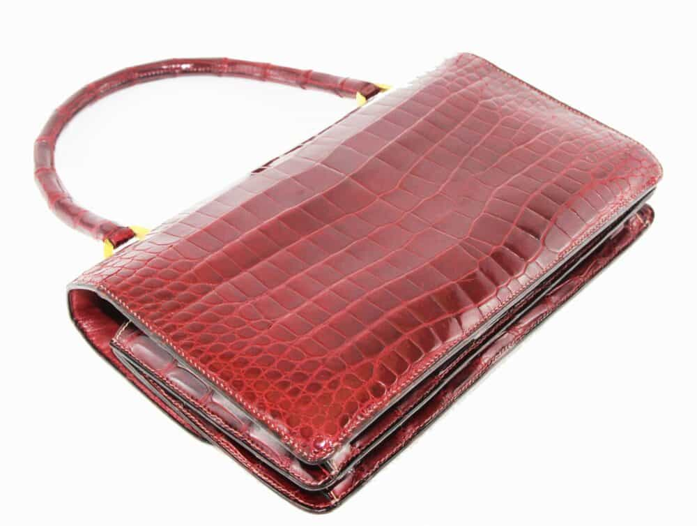 Hermès Red Croco Vintage Bag 60s
