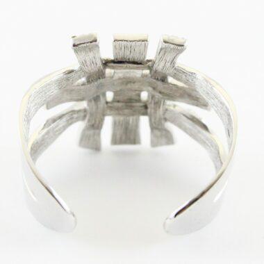 Chanel crystal silver cuff 2006