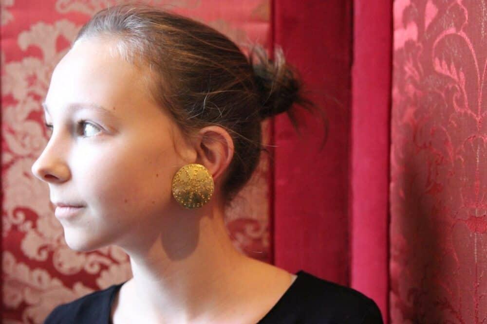 Earrings made by Robert Goossens for Yves Saint Laurent