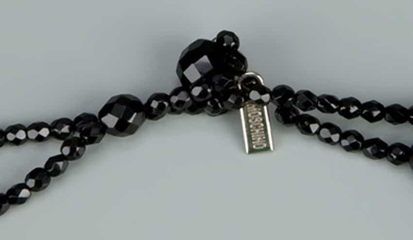 Moschino Black Vintage Tassel Necklace 90s