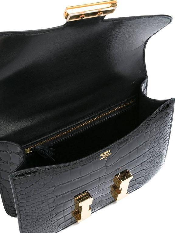 Hermès Constance Rarity Black Alligator 1991