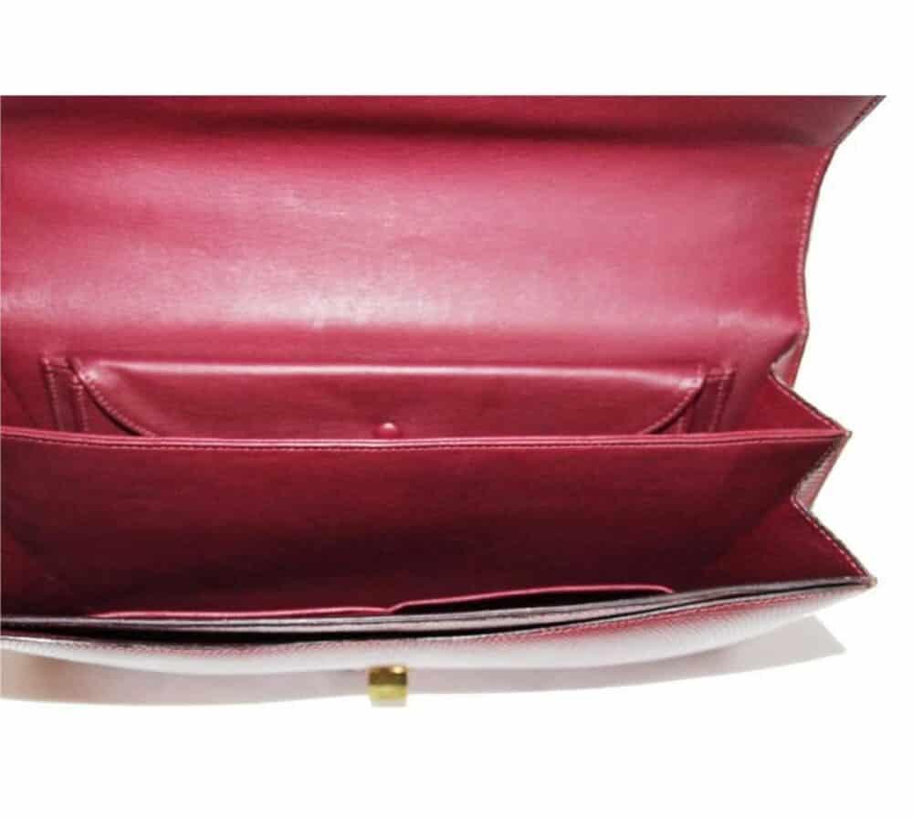 Unique Hermes vintage Red lizard bag c.1960 MINT