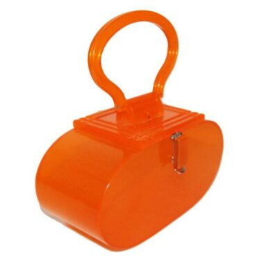 Fun retro orange vintage plexi bag of the 80s