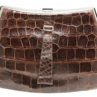 Fabulous Art Deco crocodile vintage clutch