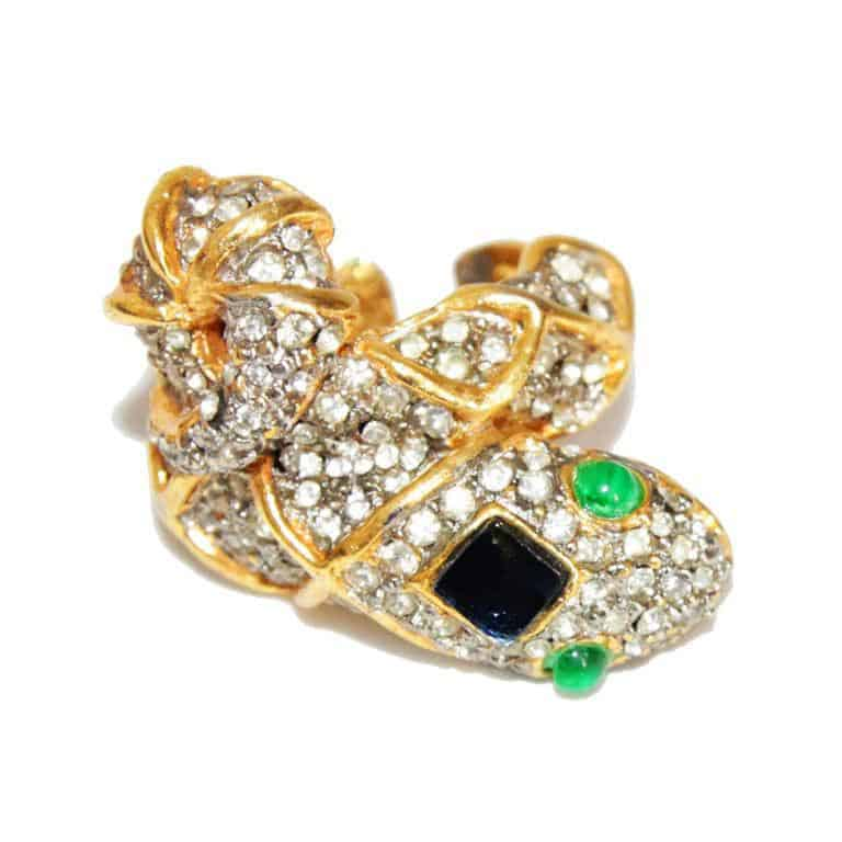 Rare and Gorgeous vintage KJL snake ring 60s