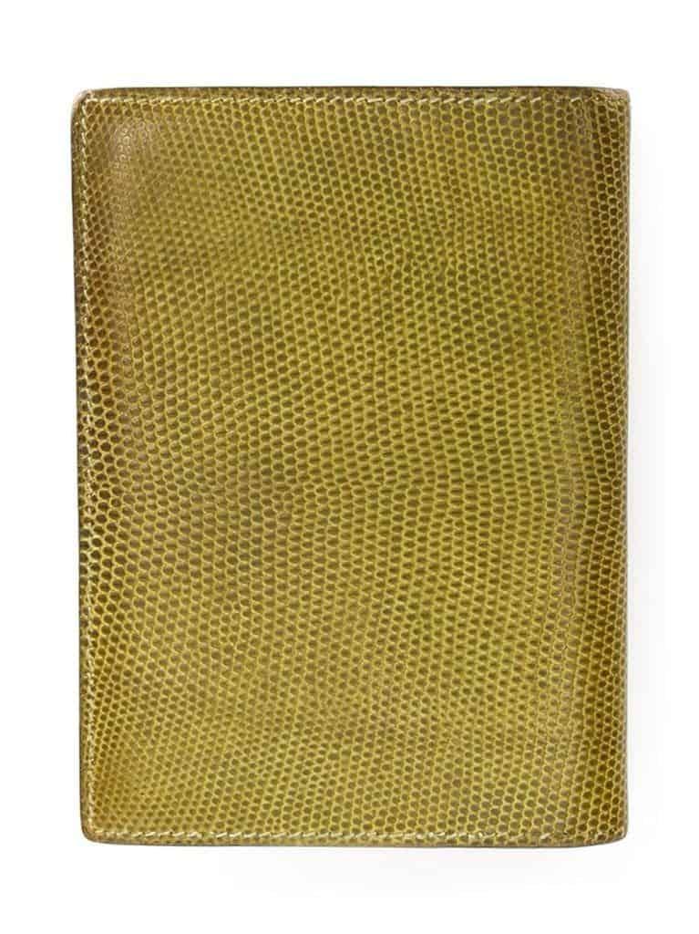 Hermès vintage lizard skin planner c.1970