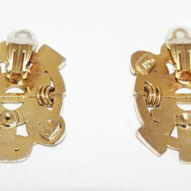 Jean-Paul Gaultier oversized logo earrings of the late 80s