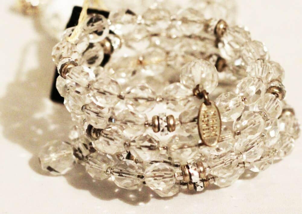 Stunning Glamour Miriam Haskell Crystal Bracelet 1960