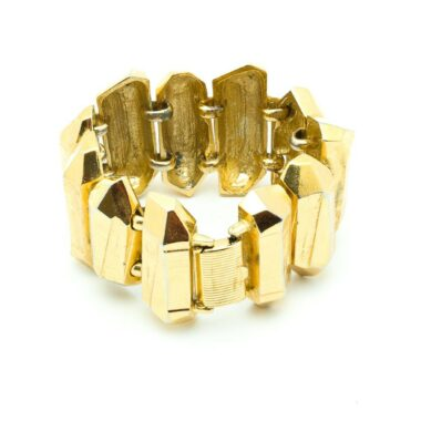 Yves Saint Laurent vintage collector gold nuggets bracelet 80s