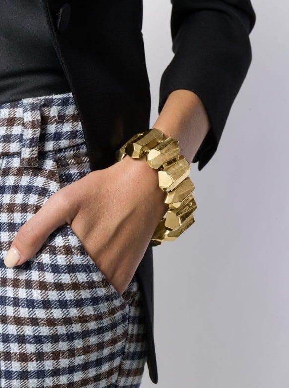Yves Saint Laurent vintage collector gold nuggets bracelet 80s