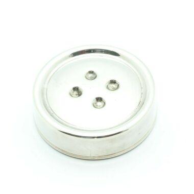 Christian Dior Silver Button Vintage Collector Box