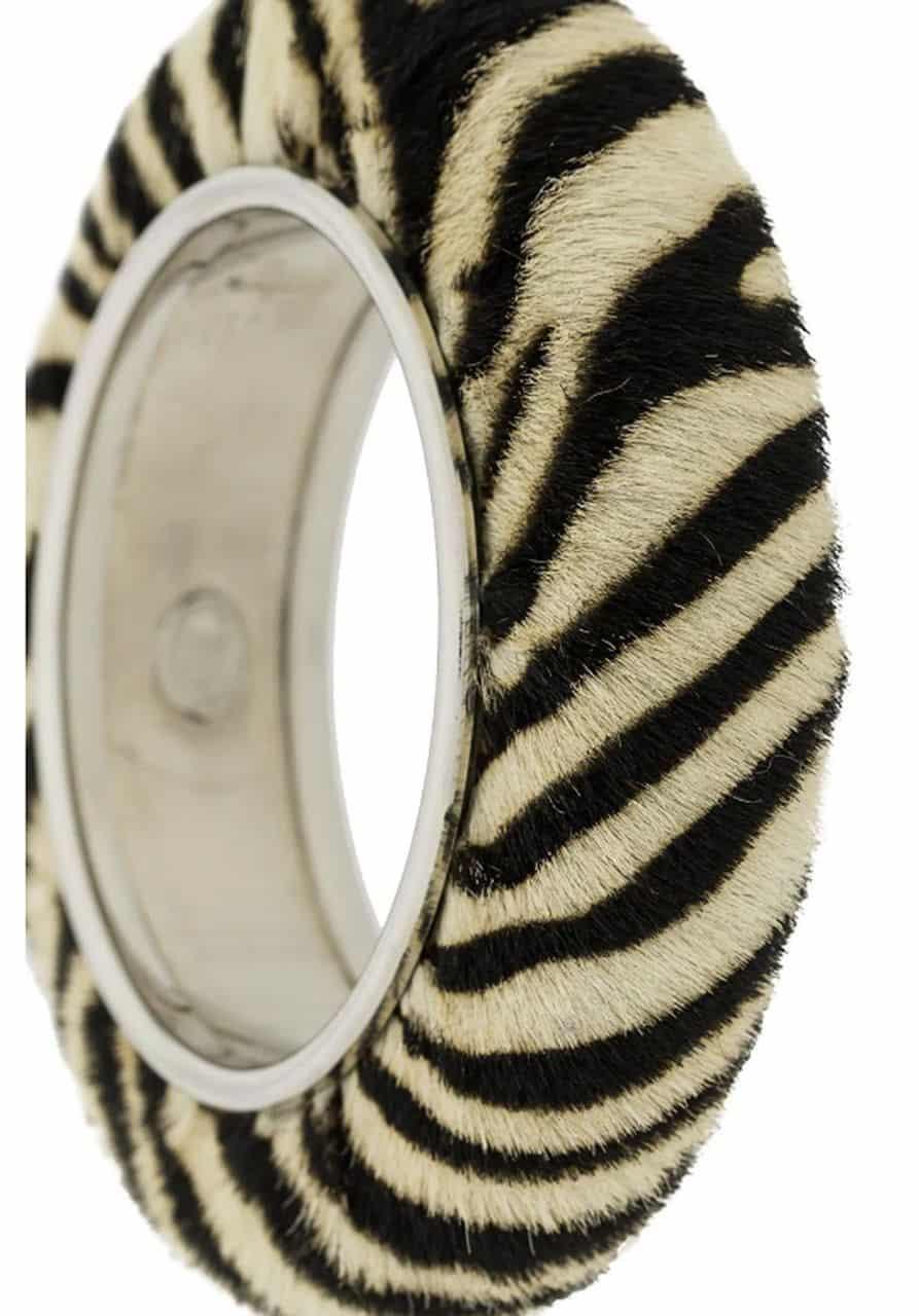 Christian Dior Vintage Collector Zebra Bracelet 90s