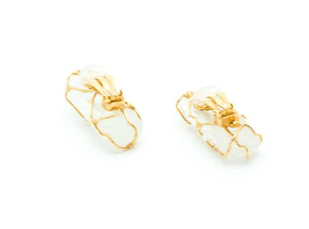 YSL Crystal Rock Earrings made by Goossens 80s