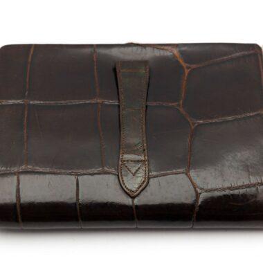 Art Deco Brown Croco Clutch