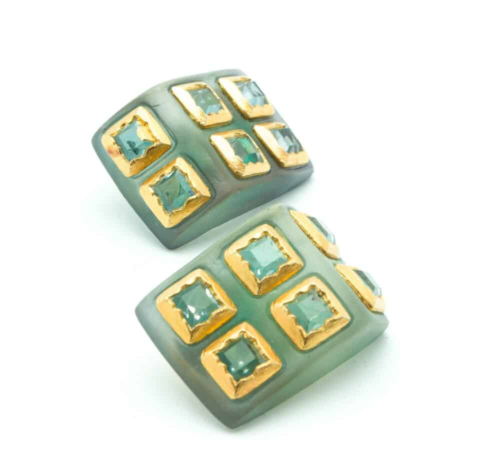 Claude Montana by Claire Deve Vintage clip-on Earrings 90s
