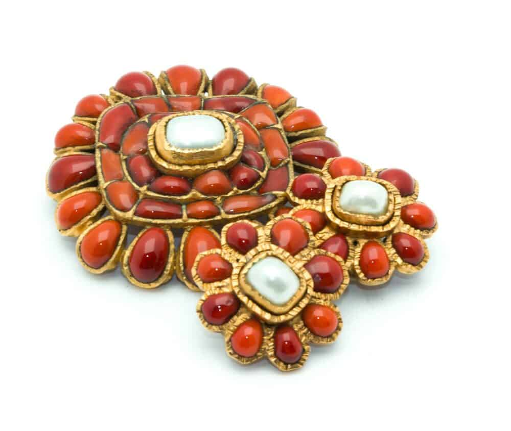 Chanel Vintage Collector Gripoix Brooch