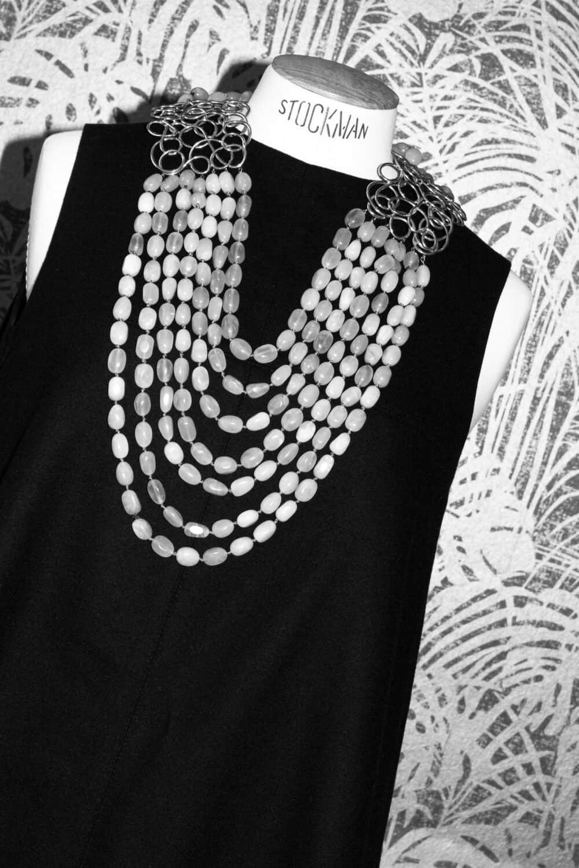 Les Paruriers Spectacular Serpentine Plastron Necklace