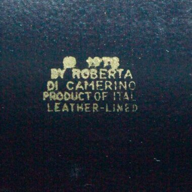 Roberta di Camerino Rare Pochette Vintage Bleu Velours 70s