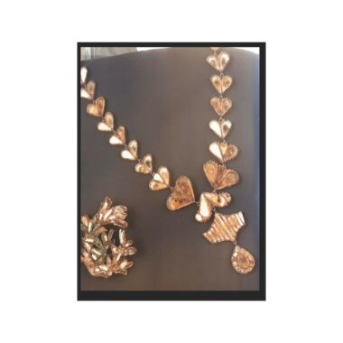 Exceptional Line Vautrin Leafs Mirror Necklace c.1950