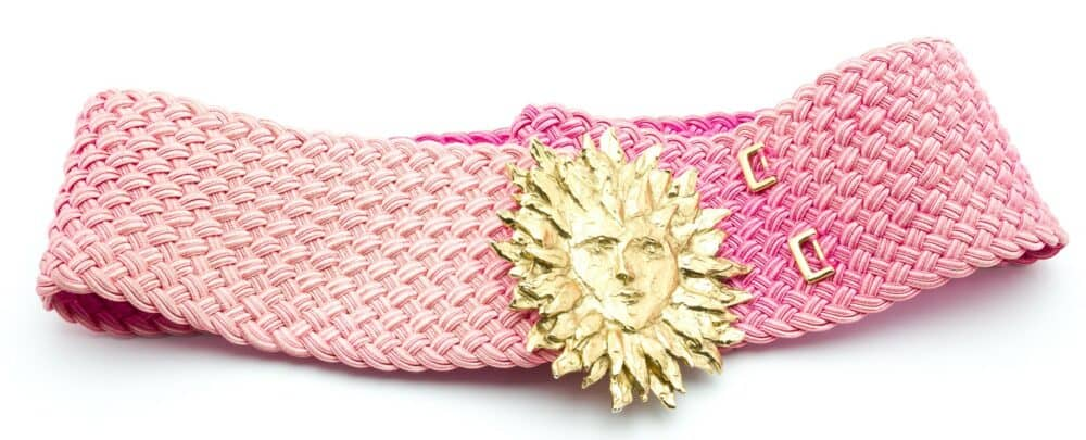 Exceptional YSL Sun Lion Belt by Robert Goossens 80s