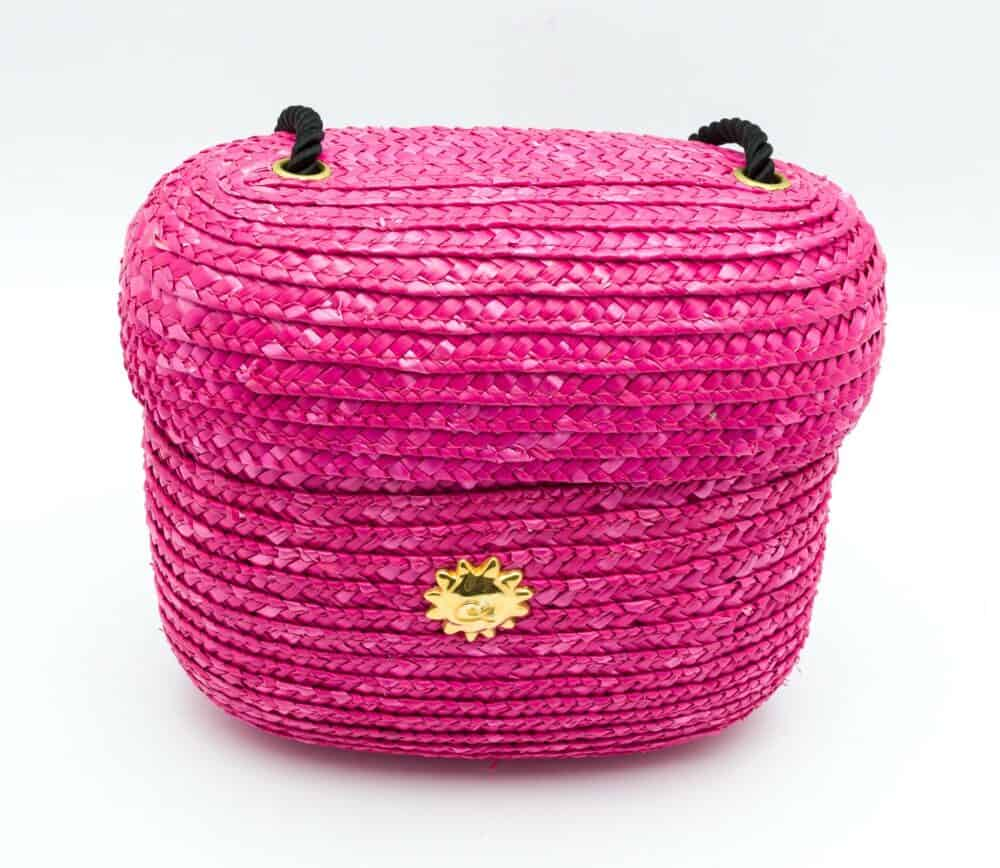 Christian Lacroix Vintage Raffia Shocking Pink Bag 90s