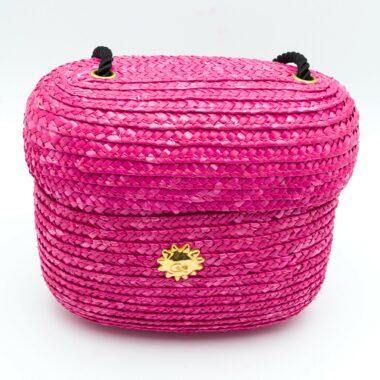 Christian Lacroix Vintage Raffia Shocking Pink Bag 90s