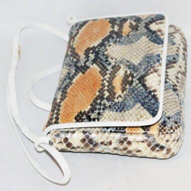 Unique Vintage Python Venezia Handbag of the 80s