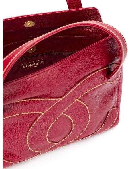 Chanel Vintage Logo Sellier Handbag 2004