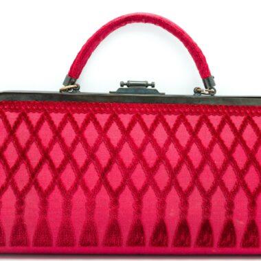 Exceptional Roberta di Camerino Large Vintage Fushia Bag 70s