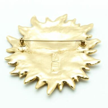 Gorgeous YSL Sun Vintage Brooch 1988 Published