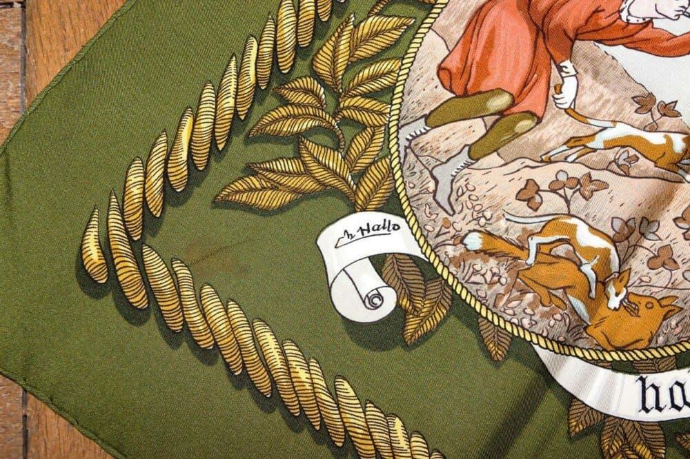 Rare Hermes scarf vintage Termes de Vénerie 1966
