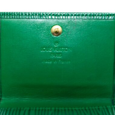 Louis Vuitton Green Epi Vintage Wallet 1991