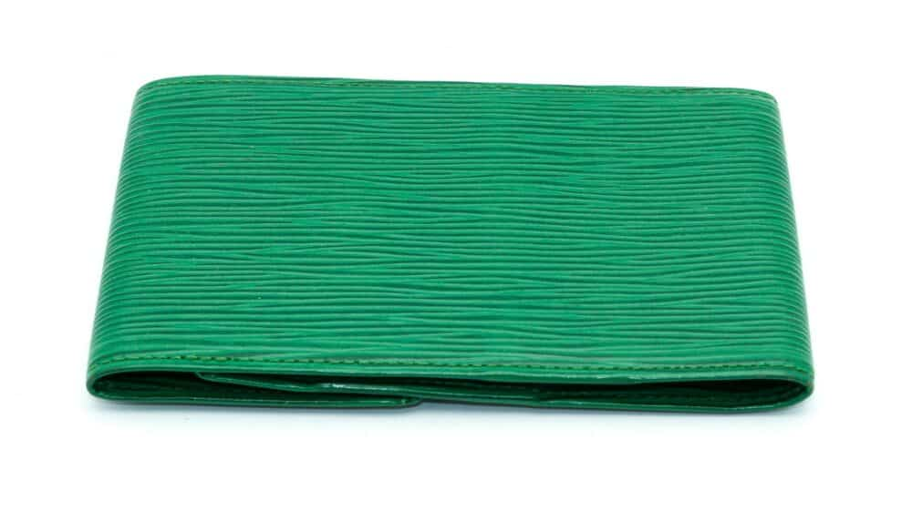 Louis Vuitton Green Epi Vintage Wallet 1991