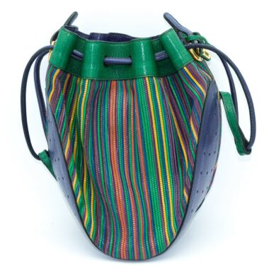 Delvaux Rare Bucket Vintage Bag Multicolore 90s