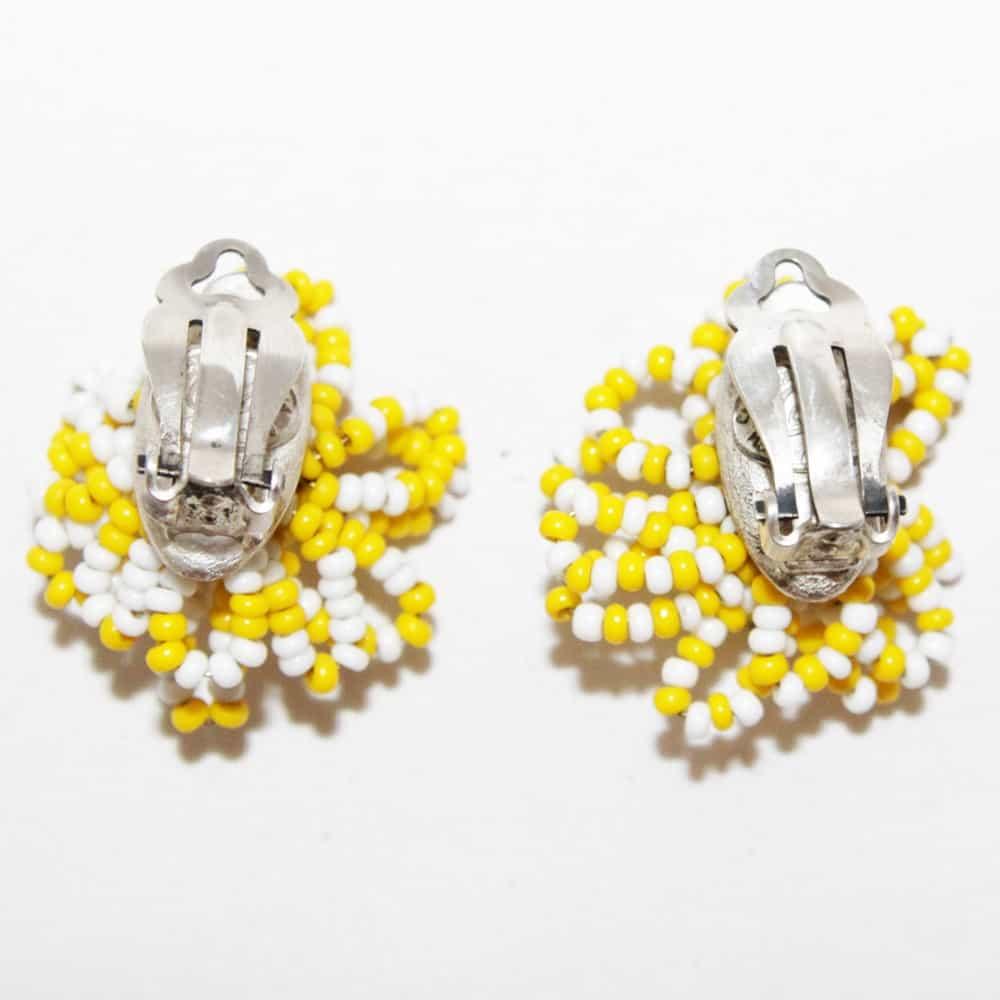 Christian Lacroix Daisy Flower Vintage Clip-on Earrings 90s