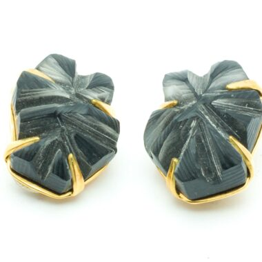 Alexis Bittar Vintage Resin rock clip-on Earrings 90s