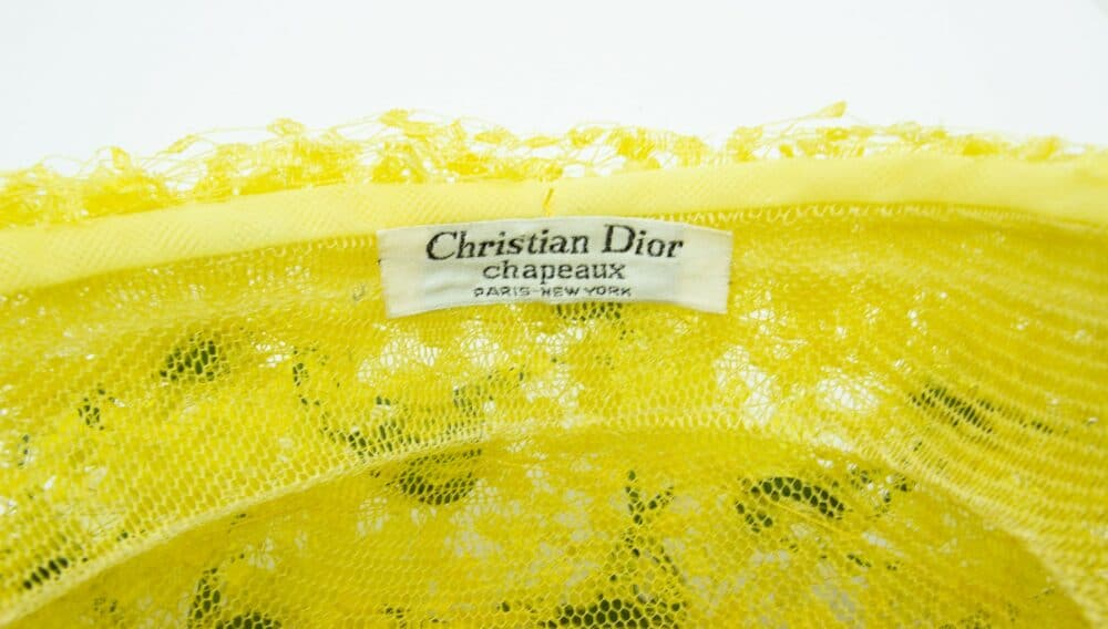 Christian Dior Rare Collectable Jonquilles Vintage Yellow Hat 60s