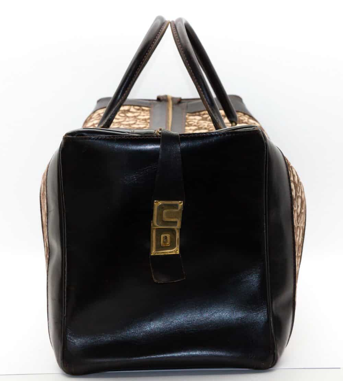 Christian Dior Vintage Monogram Brown Travel Bag 70s