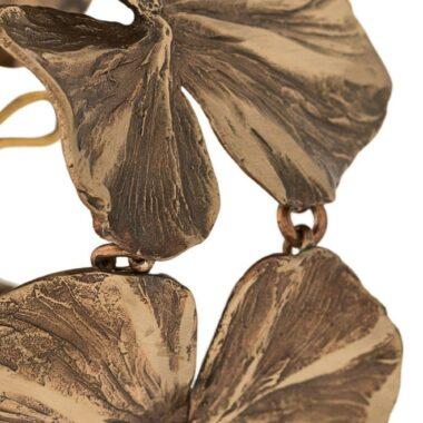 Les Paruriers Beautiful Bronze Flowers Bracelet R. Goossens