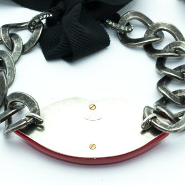 Lanvin vintage lip surreal necklace c.2010