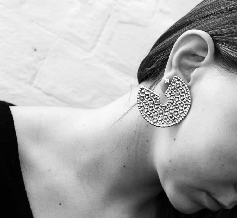 Dominique Denaive Paris French vintage earrings clip-on 90s
