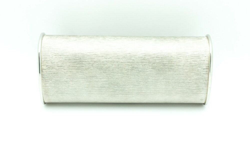 Vintage glamour crystal plated metal clutch 60s