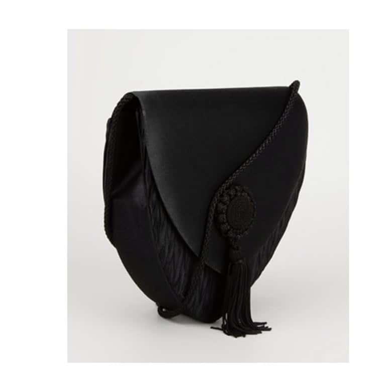Van Cleef & Arpels rare black passementerie bag 80s
