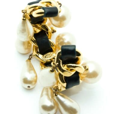 Chanel vintage bracelet manchette with pearls 80s
