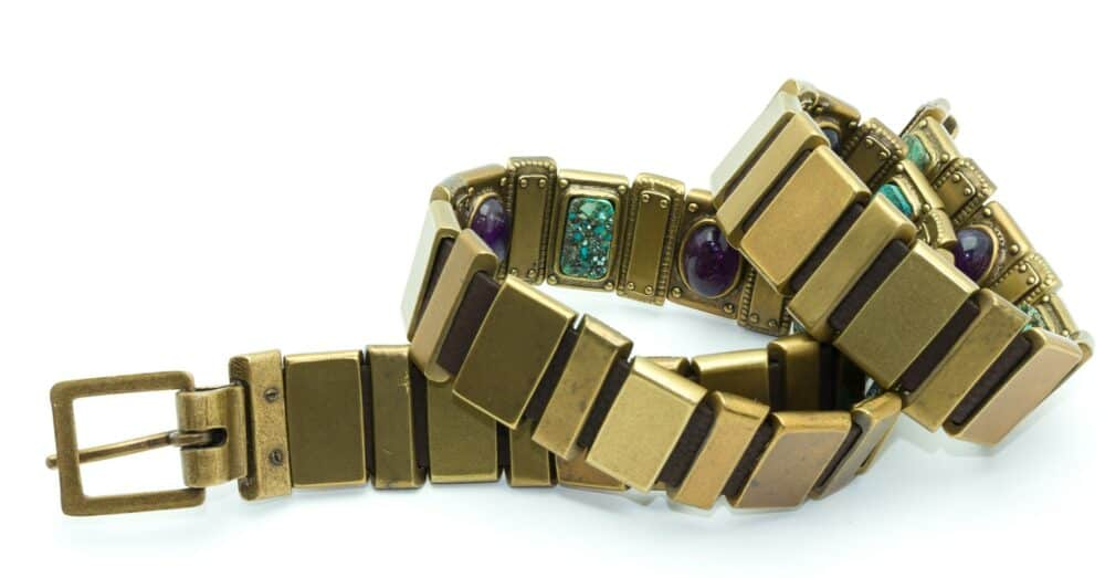 Chanel rare vintage belt amethyst turquoise 2000s