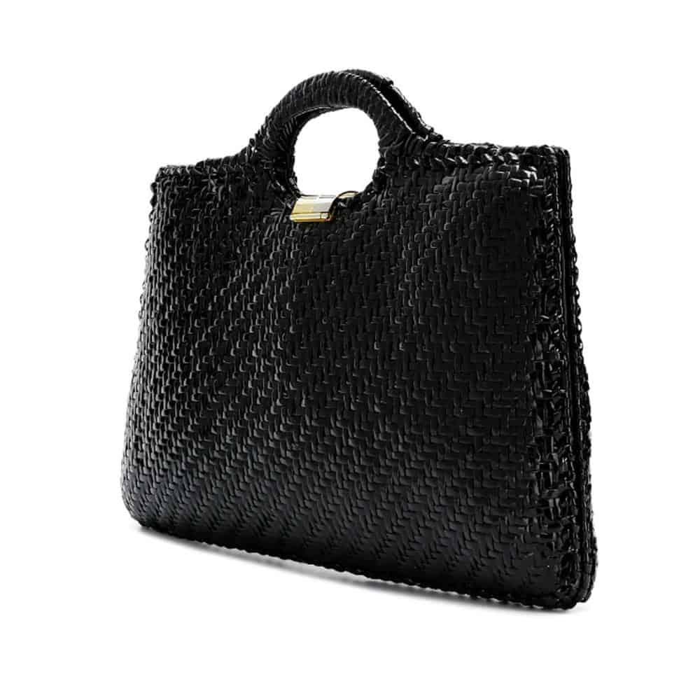 Fabulous Large Rodo Rafia black vintage bag 70s