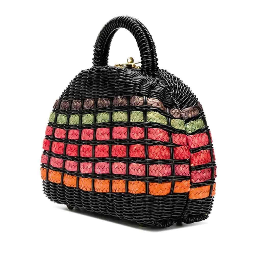 Unique 60s Vintage Raffia Bag