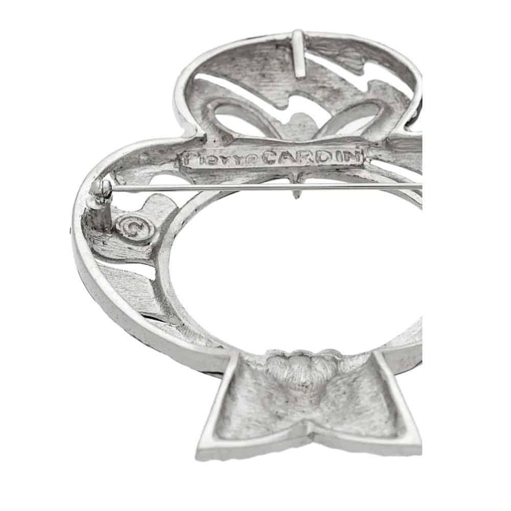 Pierre Cardin 70s Owl black & white enamel brooch/pendant