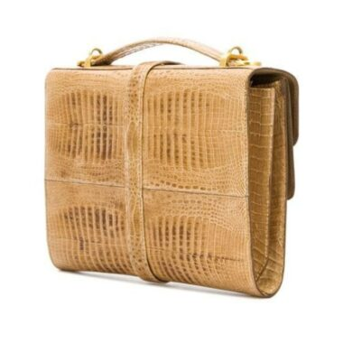 Unique Italian Design baby croco 70s bag