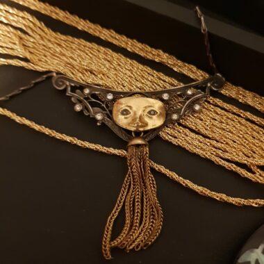 Art Nouveau Commedia dell'arte necklace